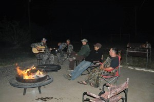 Kickin' back to some country music - Aoudad Hunts in Texas
